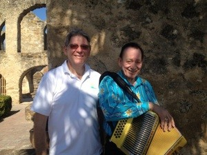 Steve with accordion master Flaco Jimenez